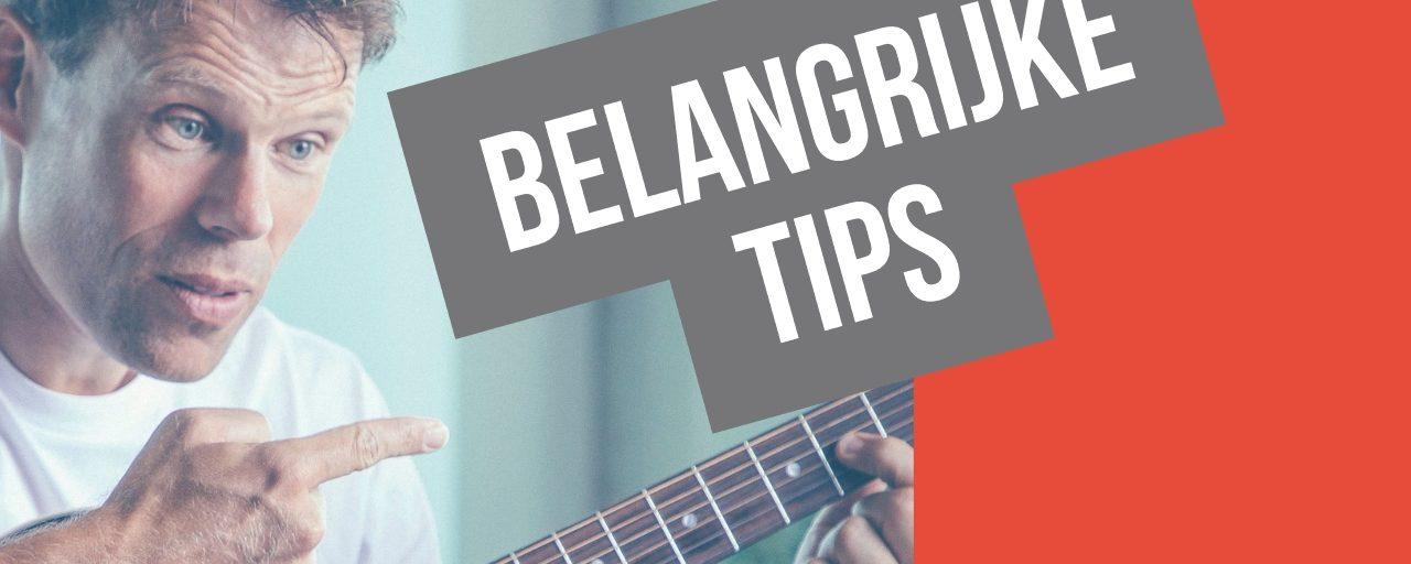 Belangrijke tips
