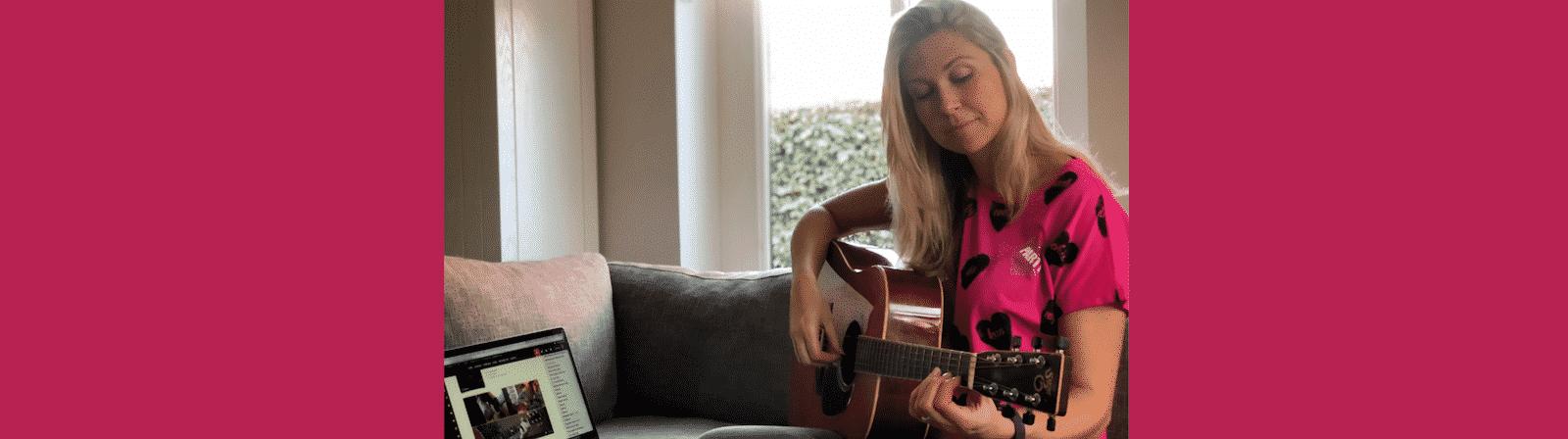 Eerste gitaarles blog